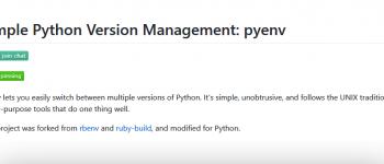 在Centos中安装并使用Pyenv,一个强大的Python版本管理工具