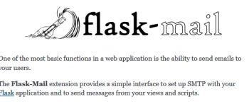 Flask扩展插件,使用Flask-Mail管理项目的邮件发送